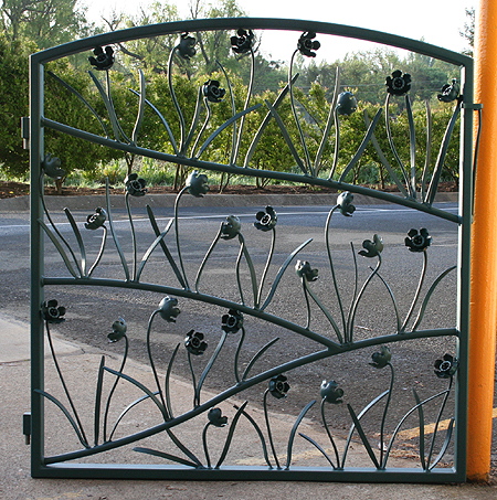 individual flower metal gate